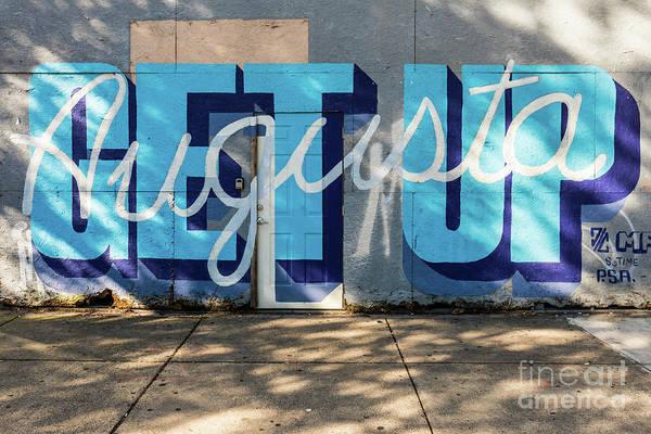 Get Up Augusta Ga Mural  Poster