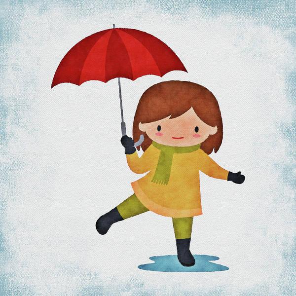 Girl In The Rain Poster