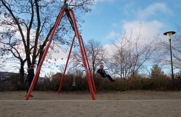 Girl On Swing Poster