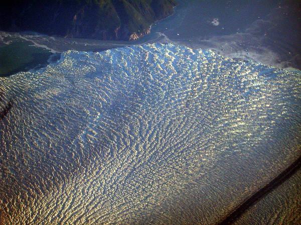 Glacier Texture Poster