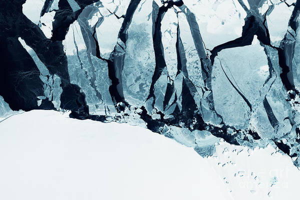 Glaciers Of Greenland. Some Graphics Poster