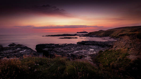 Godrevy Sunset - Cornwall Poster