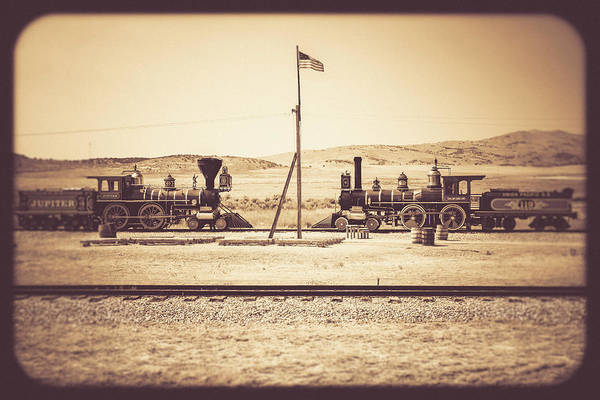 Golden Spike - Antiqued Poster