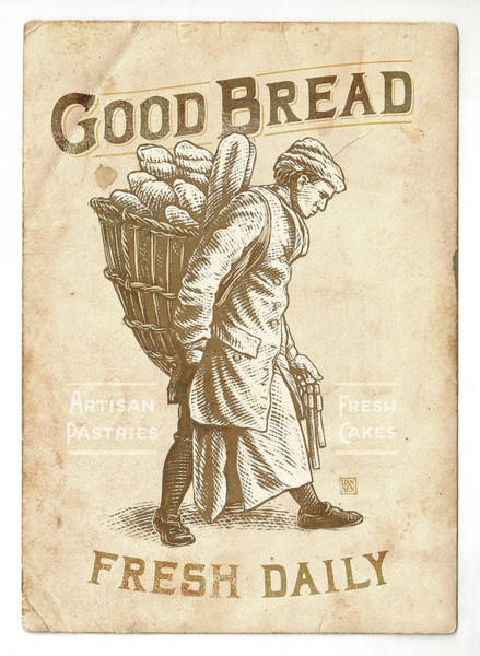 Poster featuring the drawing Good Bread by Clint Hansen