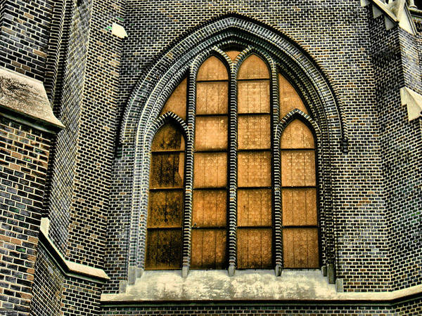 Gothic Church Window Poster