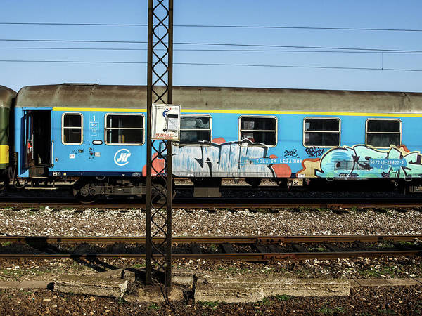 Graffitied Train Poster