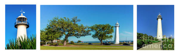 Grand Old Lighthouse Biloxi Ms Collage A1e Poster