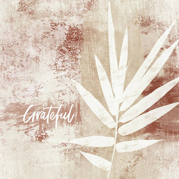 Grateful Autumn Clay Leaf - Art By Linda Woods Poster