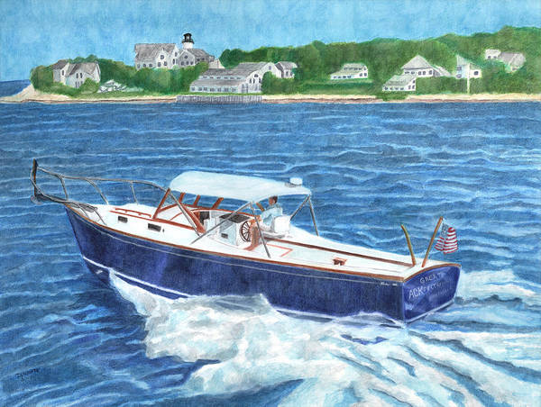 Poster featuring the painting Great Ackpectations Nantucket by Dominic White