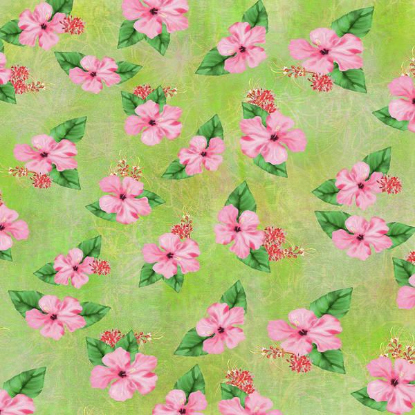 Green Batik Tropical Multi-foral Print Poster