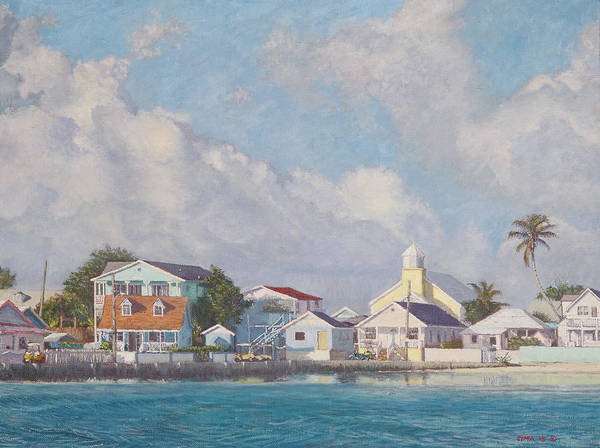 Green Turtle Cay Water Front Poster