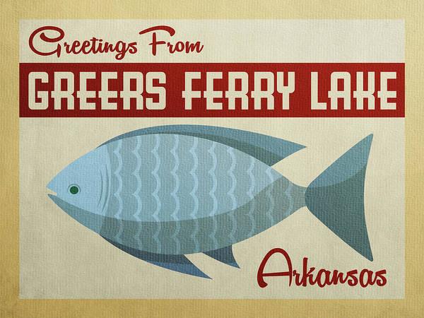 Greers Ferry Lake Arkansas Blue Fish Poster
