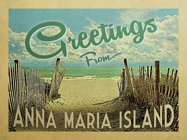 Greetings From Anna Maria Island Beach Poster
