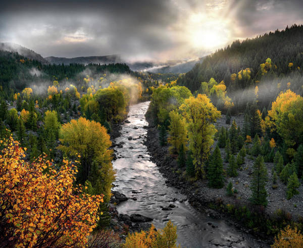 Gros Ventre River Autumn Poster