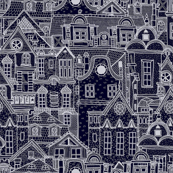 Hand-drawn Seamless Pattern With Old Poster