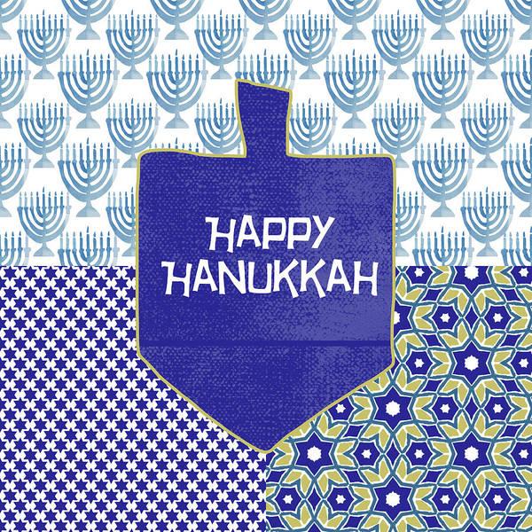 Happy Hanukkah Dreidel 1- Art By Linda Woods Poster
