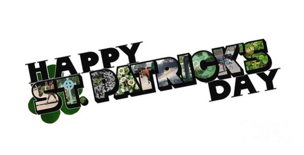 Happy St. Patrick's Day Big Letter Poster