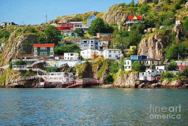 Harbour Front Village In St. Johns Poster