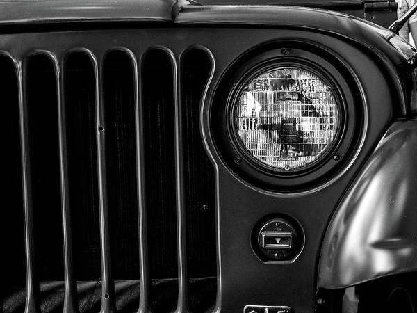 Headlight, Jeep Poster