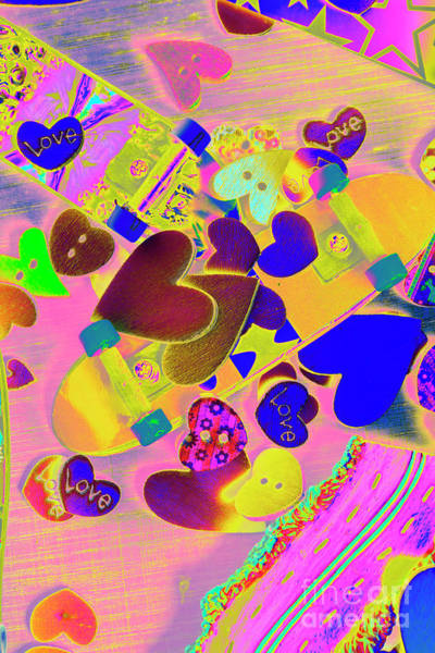 Heart Stack - Fallen For Sk8 Poster