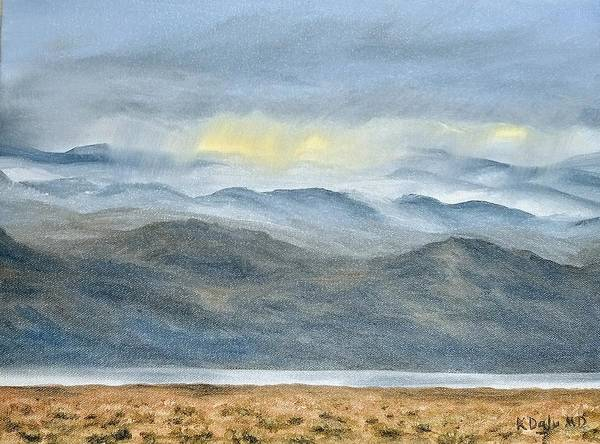 Poster featuring the painting High Desert Morning by Kevin Daly