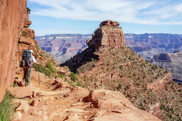 Poster featuring the photograph Hiking Toward O'neill Butte, Grand Canyon by Dawn Richards