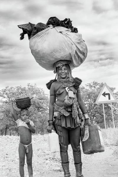 Himba Both Carrying  Poster