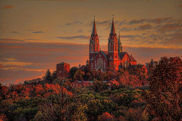Holy Hill Sunrise Poster