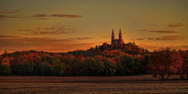 Holy Hill Sunrise Panorama Poster