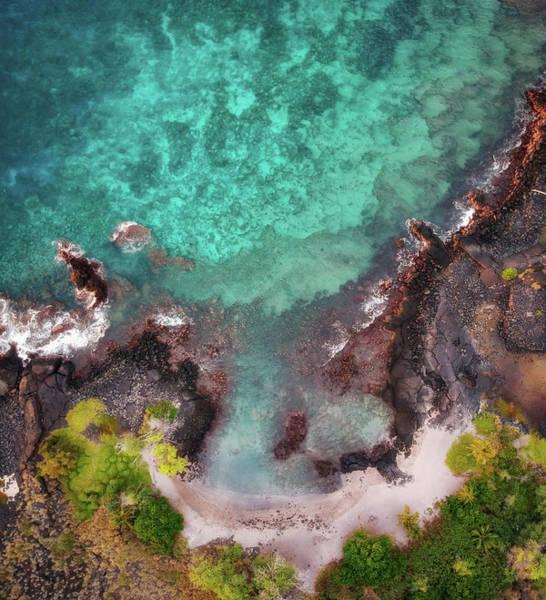 Honokohau Harbor Beach Aerial Poster