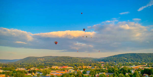 Hot Air Ballon Cluster Poster
