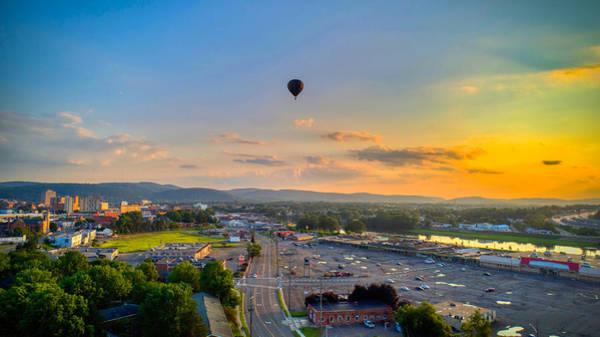 Hot Air Ballon Sunset Poster