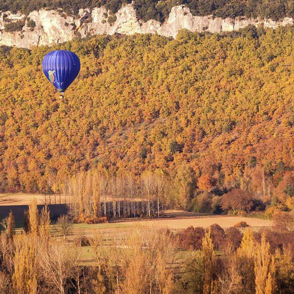 Hot Air Balloon, Beynac, France Poster