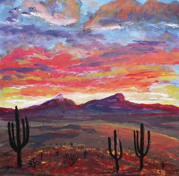 Poster featuring the painting How I See Arizona by Chance Kafka