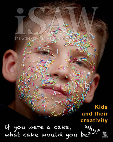 Poster featuring the digital art If You Were A Cake by ISAW Company