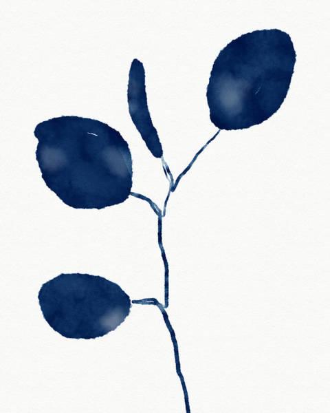 Indigo Eucalyptus 2- Art By Linda Woods Poster