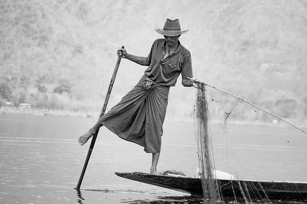 Inle Lake Fisherman Byw Poster