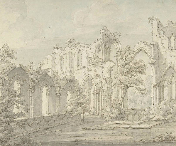 Interior View Of Fountains Abbey, Yorkshire Poster