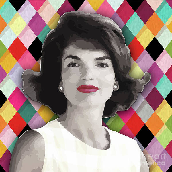 Poster featuring the painting Jackie Geometric by Carla B