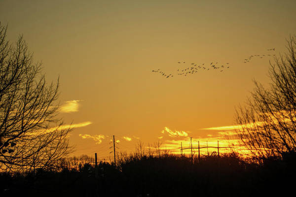 January Sunset - Lehigh Valley - Photography Poster