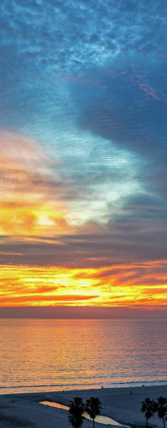 January Sunset - Vertirama Poster