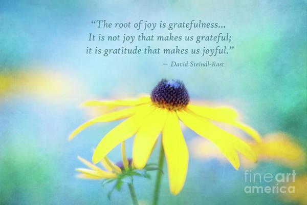 Joy And Gratefulness Poster