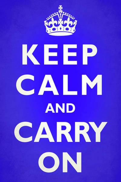 Keep Calm Blue Poster