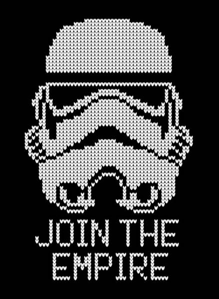 Knitted Storm Trooper - Join The Empire Poster