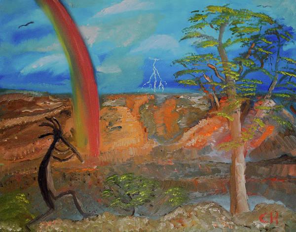 Kokopelli Calls The Storm Poster