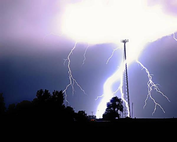 La Moille Lightning Bolt Poster