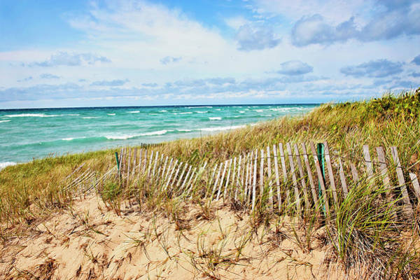 Lake Michigan Beachcombing Poster