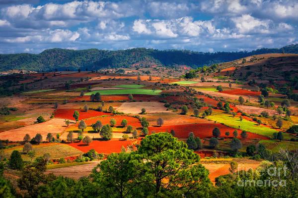 Landscapes Of Shan State, Myanmar Poster