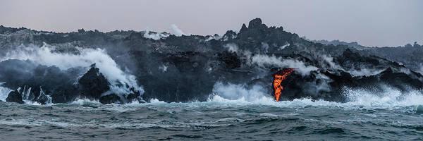 Lava Entering The Sea IIi Poster