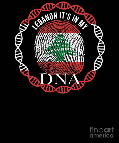 Lebanon Its In My Dna Poster